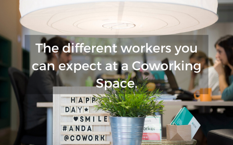 The different workers you can expect at a Coworking Space.