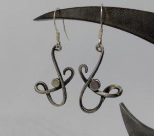 Sivler wire earrings Adam Hayes
